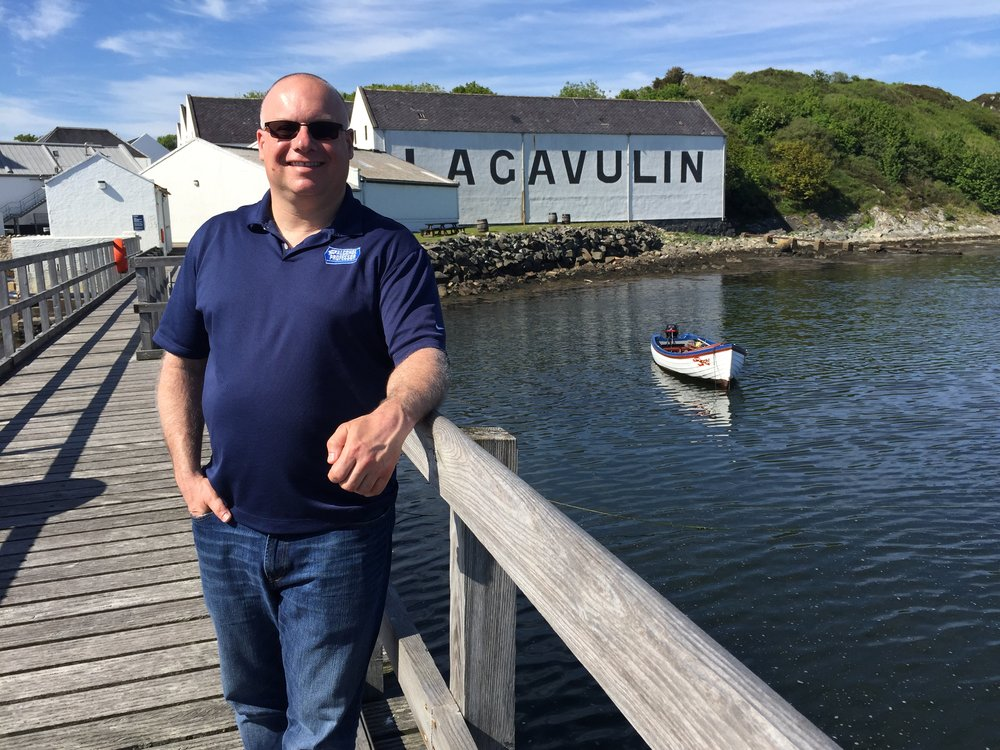 Adam outside Lagavulin
