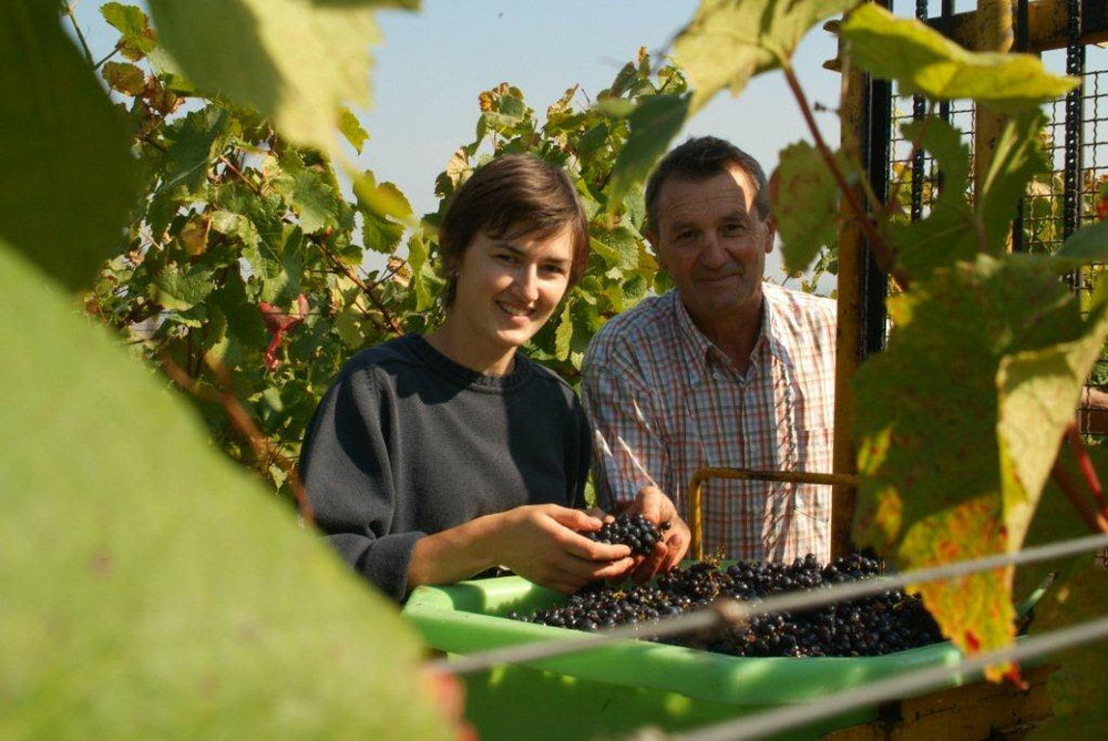 Mélanie and André Pfister, courtesy Wines of Alsace