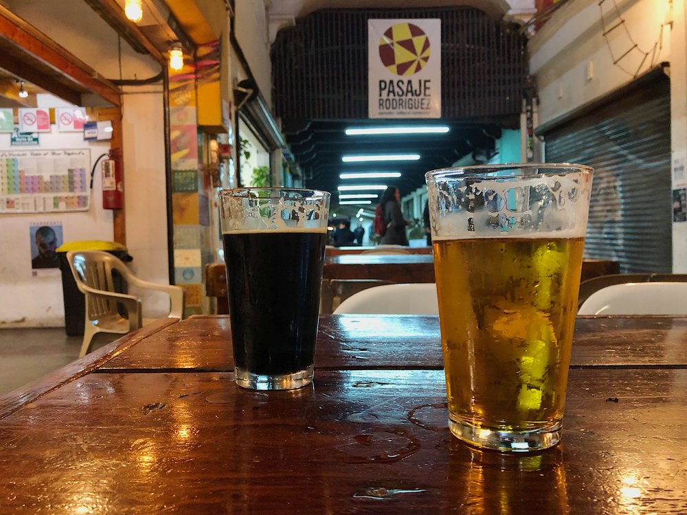 Beer pours at Mamut Brewing in Tijuana