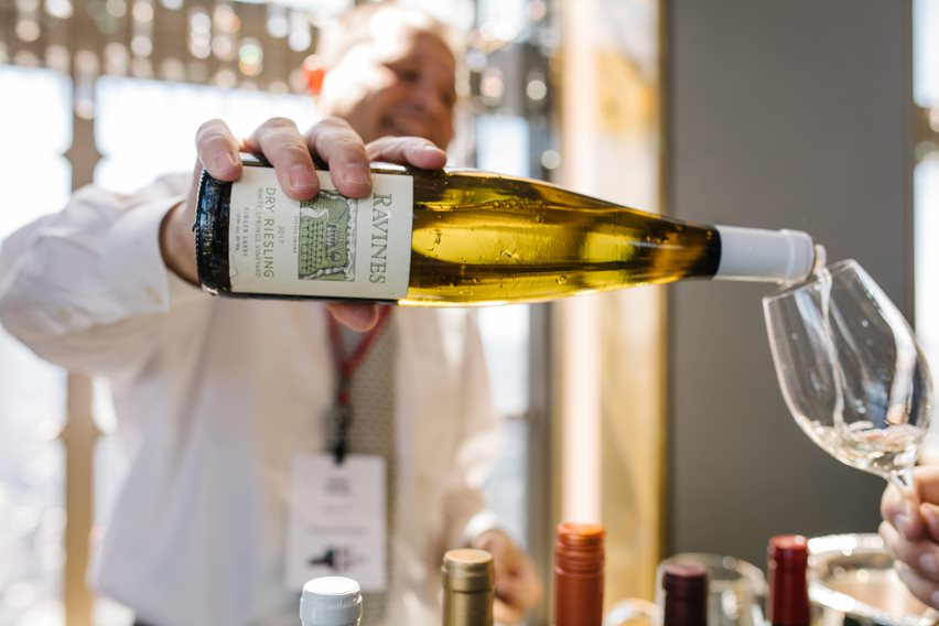 Ravines Dry Riesling was another Finger Lakes favorite!