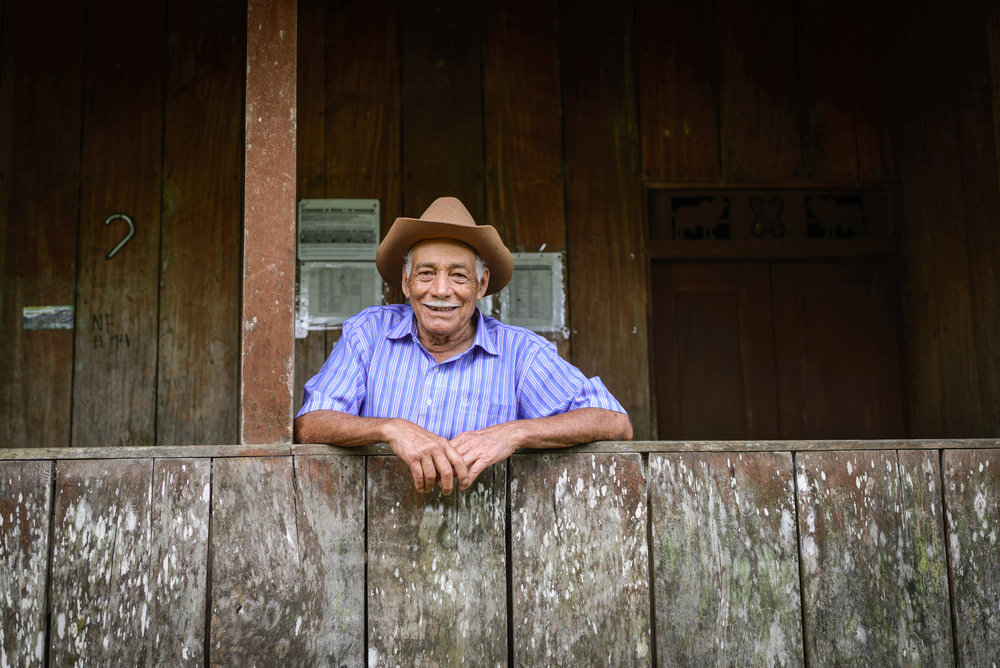 A coffee farmer from one of Eleva's partner communities.