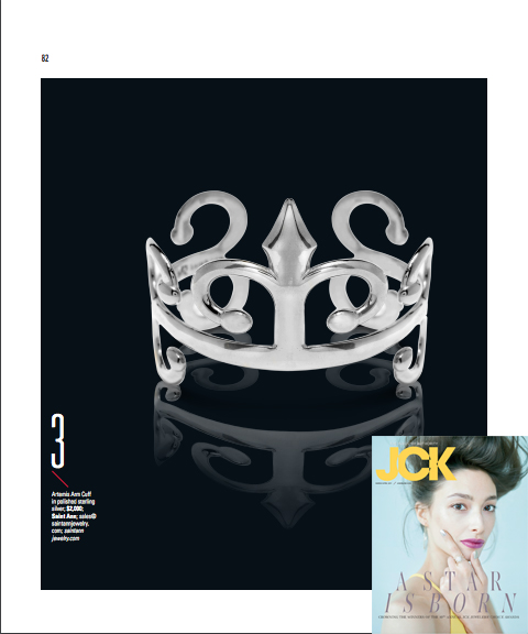 Saint Ann Jewelry in JCK Magazine!  April 2017