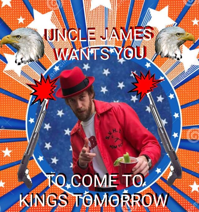 UNCLE JAMES 🇱🇷 WANTS YOU🇱🇷 TO COME TO KINGS TOMORROW🇱🇷 7$ adv 10$ dos 🇱🇷 Doors 8:30 PM.  #raleighmusic #kingsraleigh