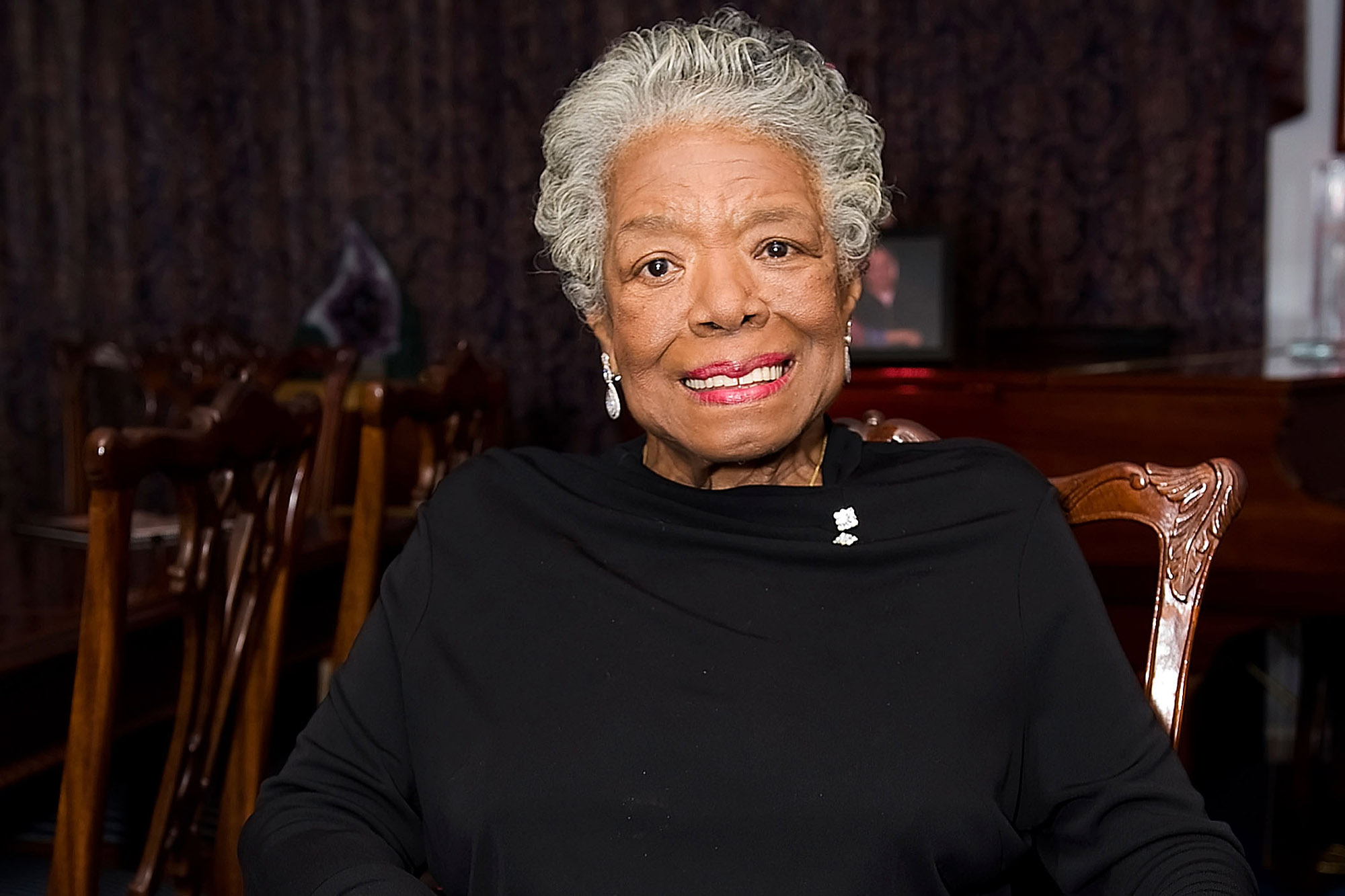 Dr. Maya Angelou Honored By The Michael Jackson Tribute Portrait