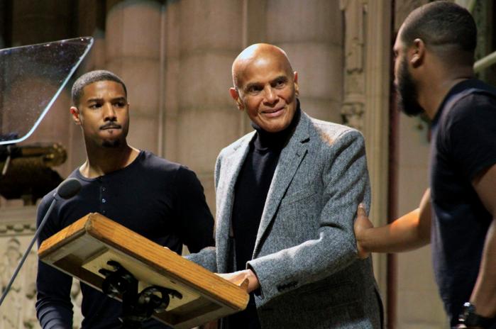 Michael B. Jordan, Harry Belafonte, Ryan Coogler | Photo by Bayete Ross Smith