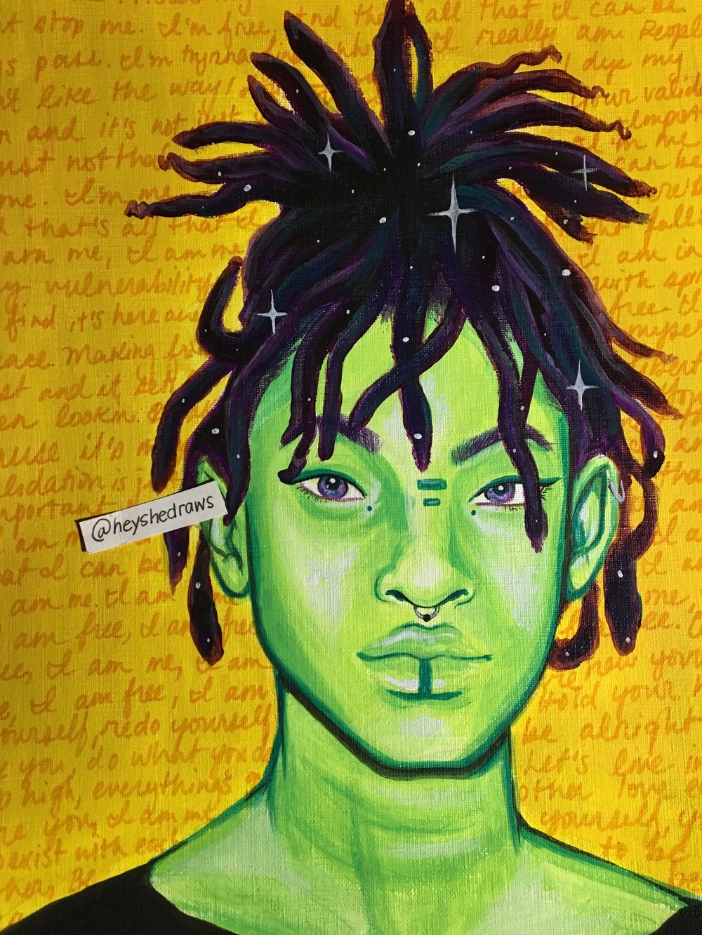 """Willow Smith, """"I Am Me"""" inspired painting by @heyshedraws"""