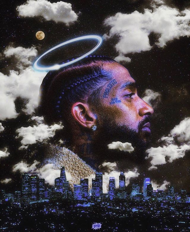 we lost a real one, but gained a new light — a new outlook on life. thank you for empowering, inspiring, teaching + loving. rest in peace nipsey tha great... hussle forever 💙🙏🏾💫