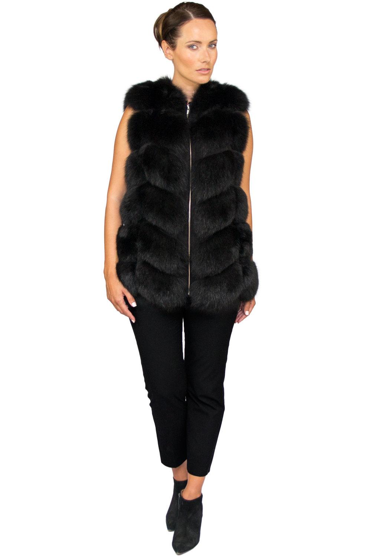 Noura Black Short - Front Zipped Up.jpg