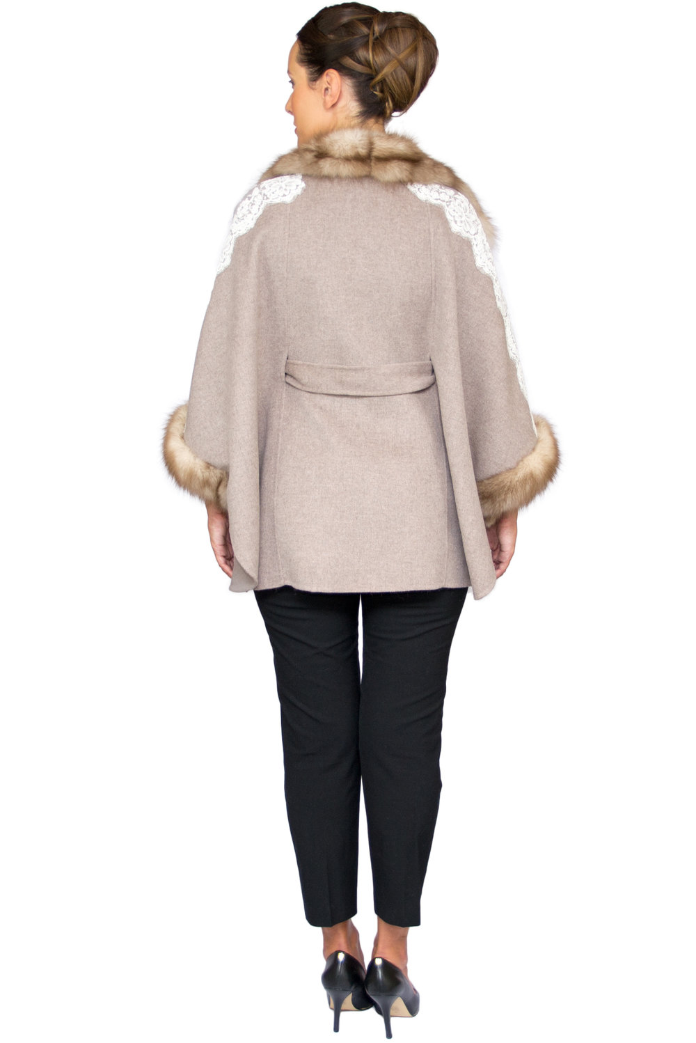 Rania Mink and Lace Poncho- Back.jpg