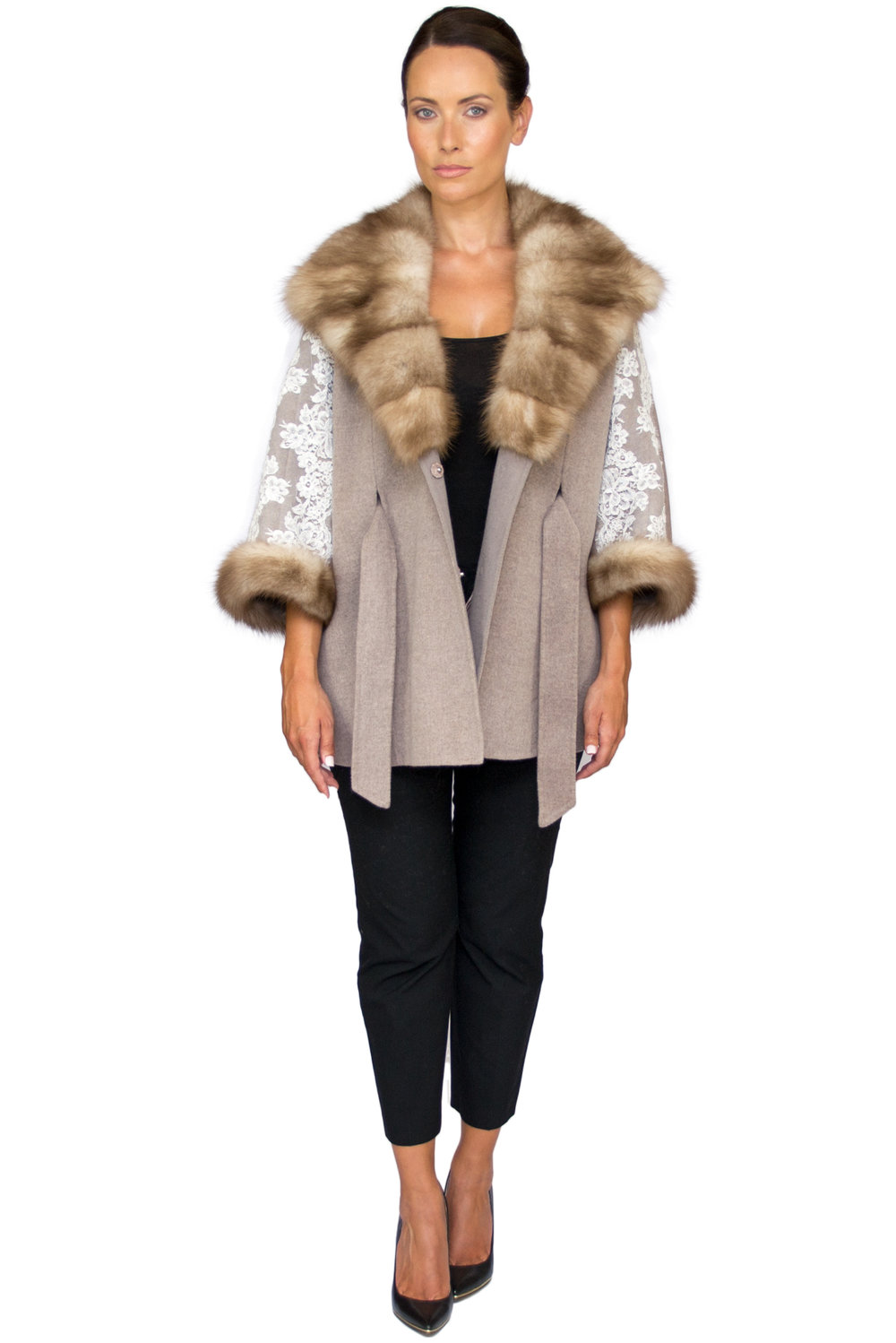 Rania Mink and Lace Poncho- Front Undone.jpg