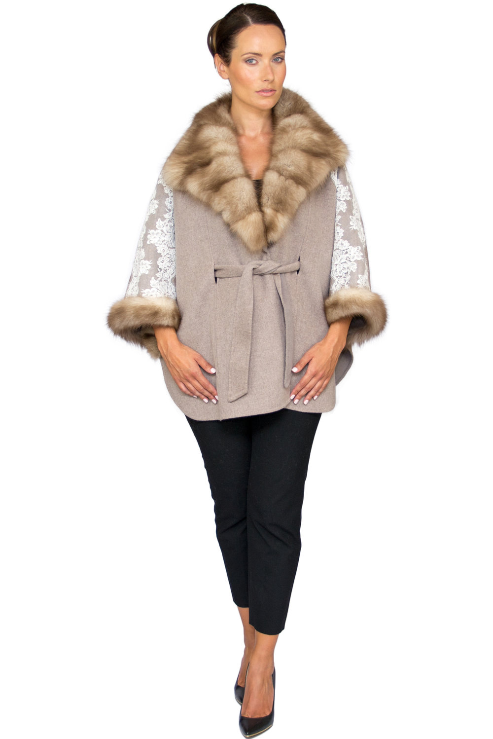 Rania Mink and Lace Poncho- Front.jpg
