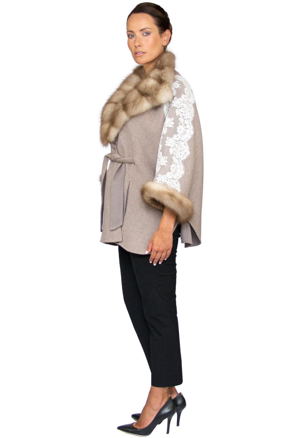 Rania Mink and Lace Poncho- Side.jpg