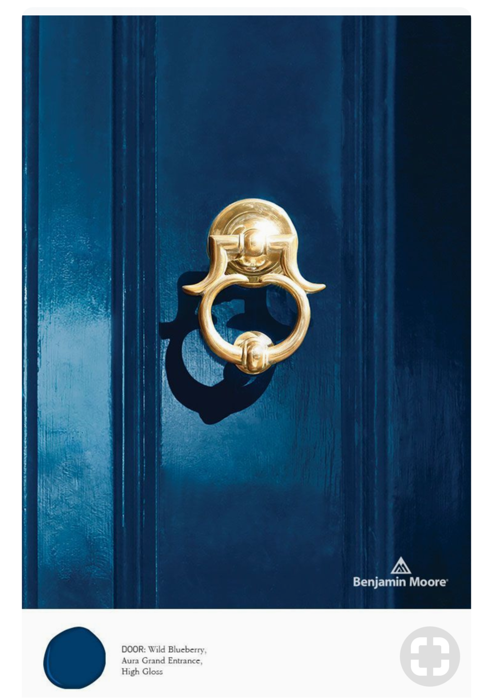 Benjamin Moore Aura Grand Entrance: Wild Blueberry