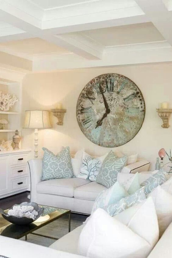 www.harpersbazaar.com I am seeing lots of patina wall clocks all over Pinterest and other decor sites.
