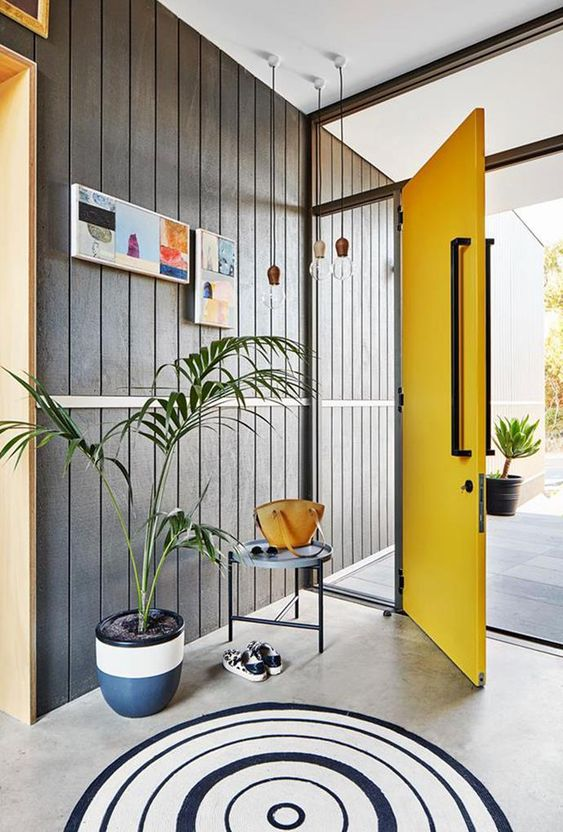 Source: www.homestolove.com.au Why NOT try a yellow door? It is fun, warm and inviting.
