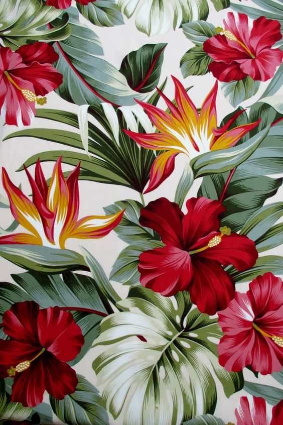 The good folks at Blue Pacific Fabrics created this floral print!