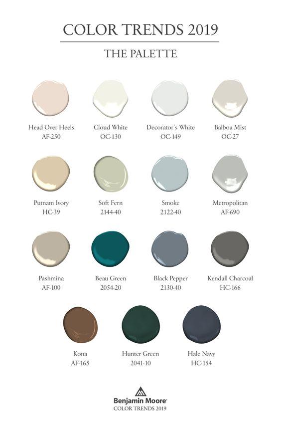 Benjamin Moore 2019 Color Palette