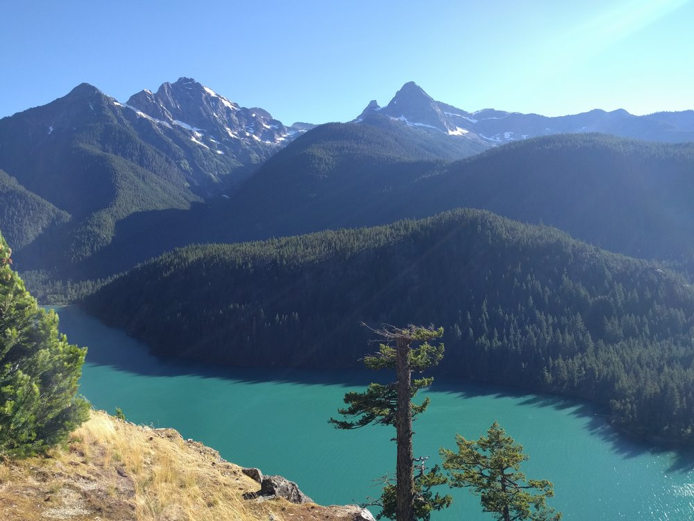 View from the Diablo Lake Overlook off of Highway 20