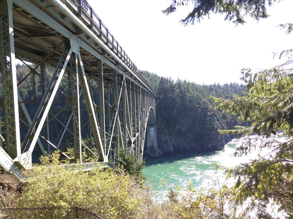 The Deception Pass Bridge to Whidbey Island