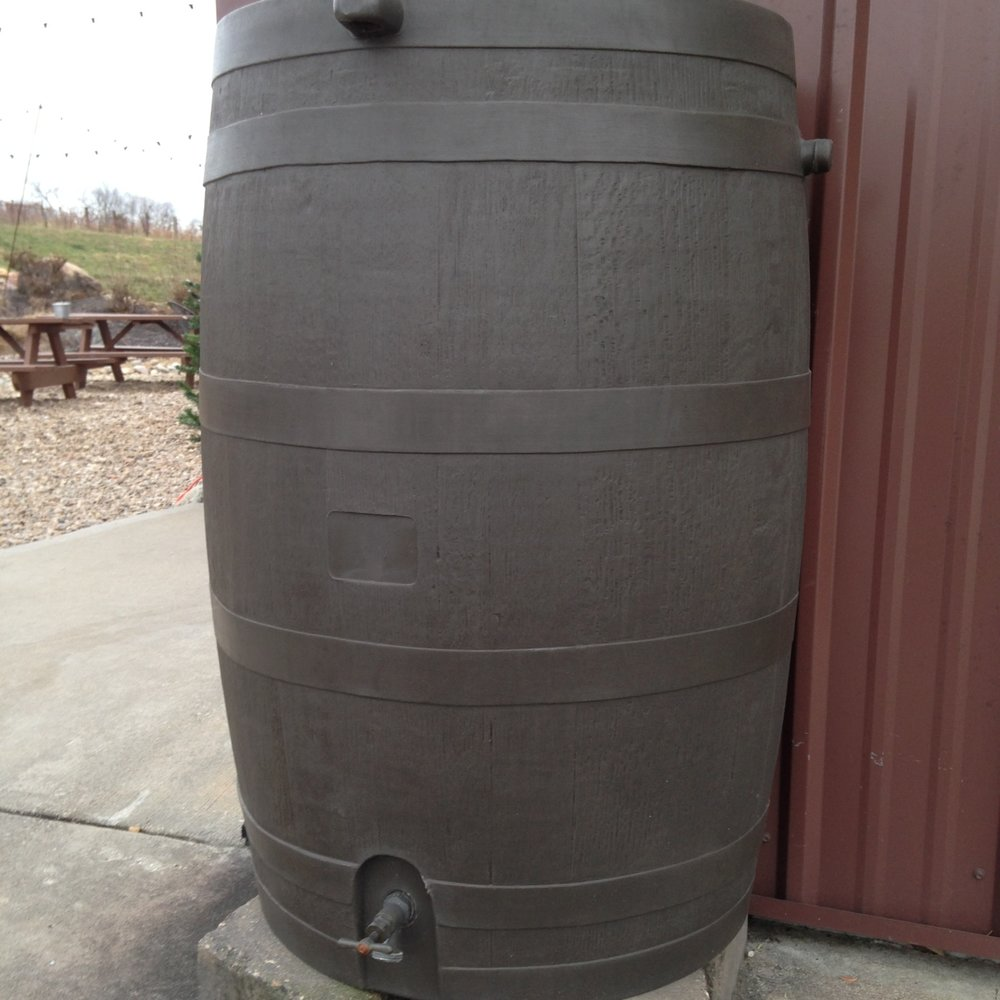 Jowler Creek Winery  has sustainably-made rain barrels as one of its many    g  reen, eco-friendly and sustainable practices  used to make its  award-winning wine ..  Jowler Creek  has a winetasting room  near Weston Missouri, Kansas City Missouri and St. Joseph Missouri  where it offers  winetasting  and  wine events  to taste their  sustainable wines