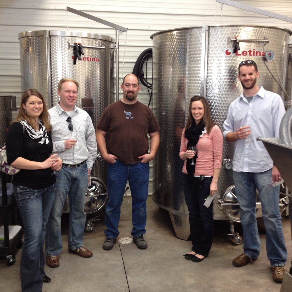 We offer  winery tours , group  winetastings  and other  fun group events .  Jowler Creek Winery  is located  in Weston Missouri, Kansas City Missouri and St. Joseph Missour i.