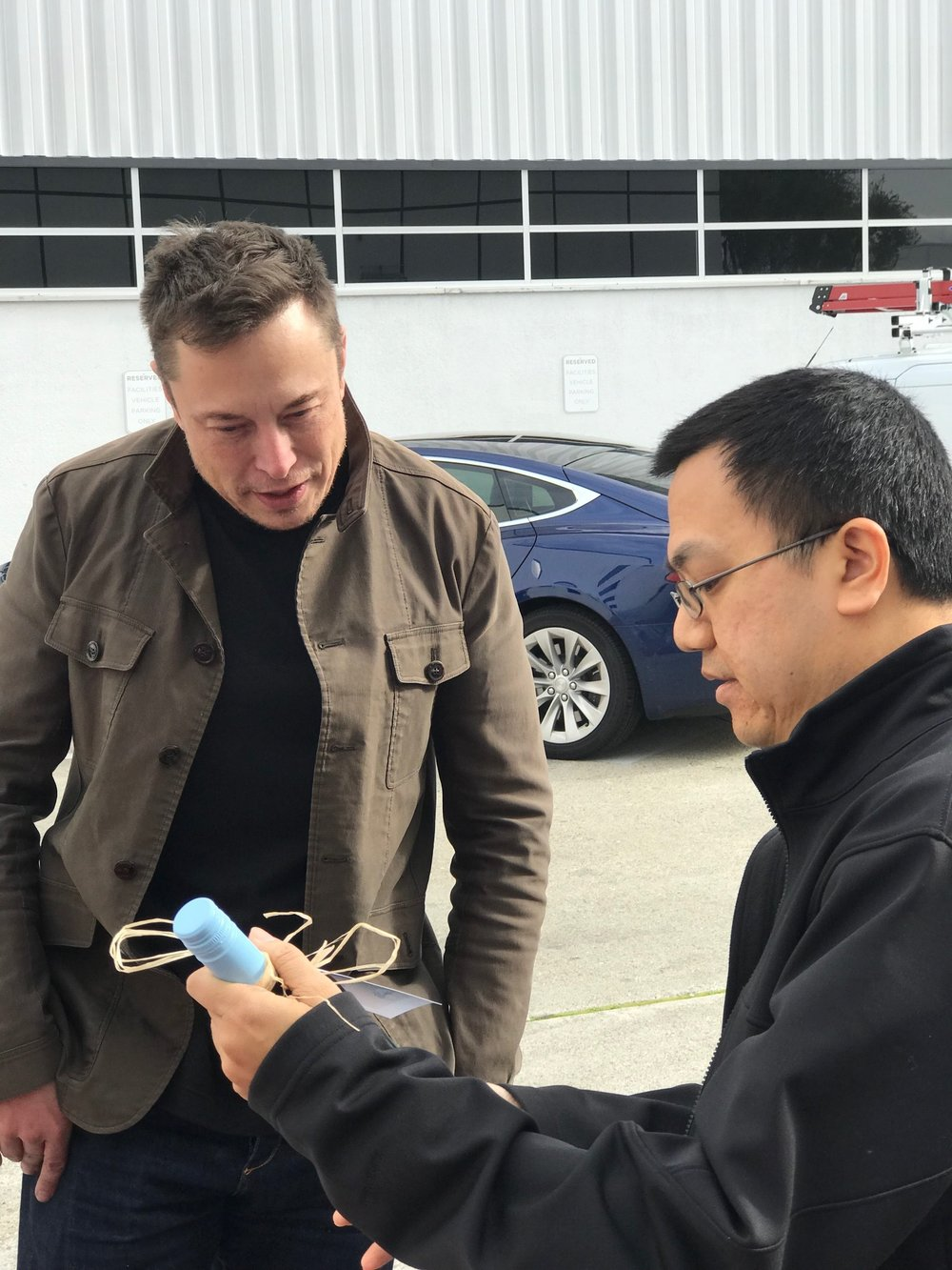Matthew Chan talks with Elon Musk, co-founder, CEO and Product Architect at Tesla, about how he helped incorporate electric vehicle charging options into our parking lot, with the help of Tesla's destination charging program.