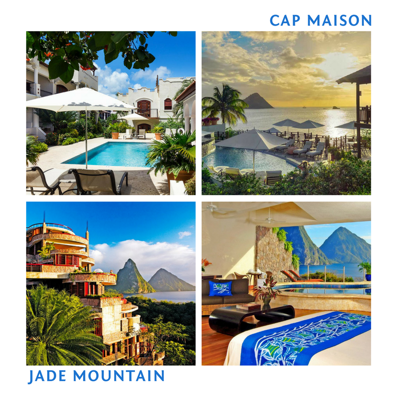 3 Nights at Cap Maison & 3 Nights at Jade Mountain for 2