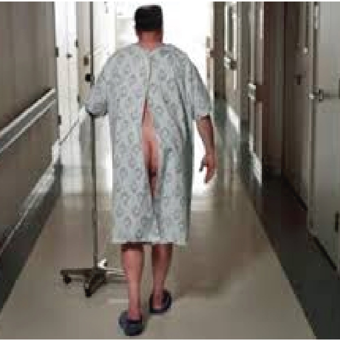 Nude Butt in Hospital Gown