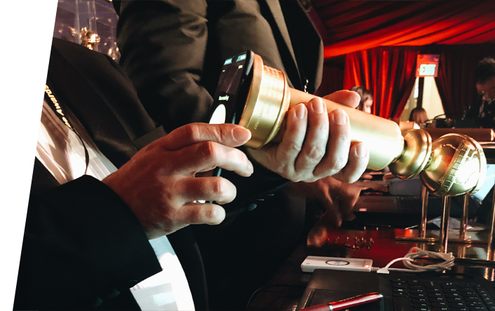 verifying authenticity of golden globe trophy with nfc device