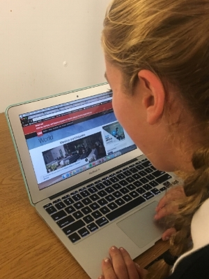 Marymount students keep up with world news.