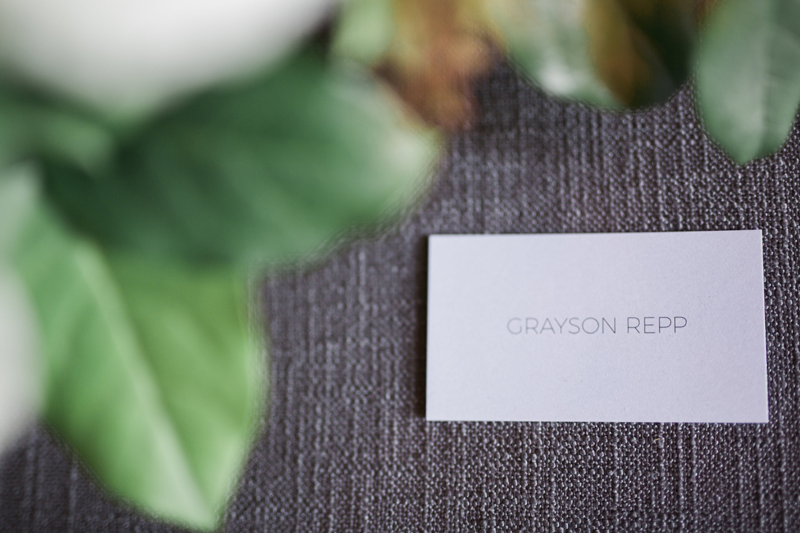 Clean and modern place cards for Kailee and Adi.