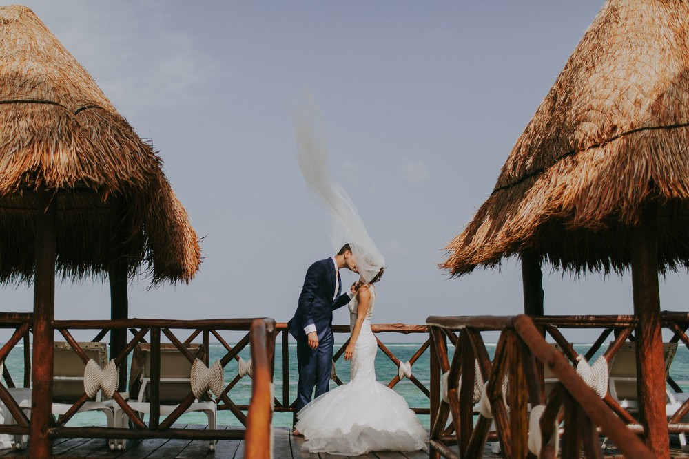 Blow me a kiss, Mexico Tulum wedding designed by Liza Child Calligraphy and Design