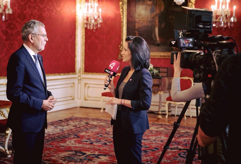 Interview mit dem Bundespräsidenten Alexander Van der Bellen © Peter Lechner