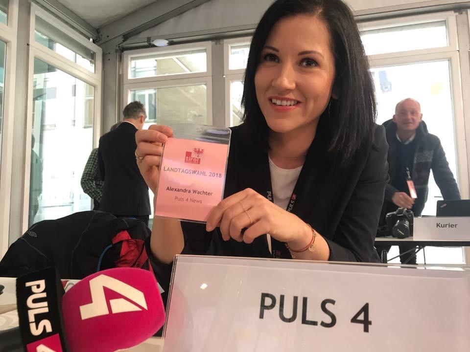 Einsatz als Reporterin bei der Tiroler Landtagswahl 2018 © Alexandra Wachter