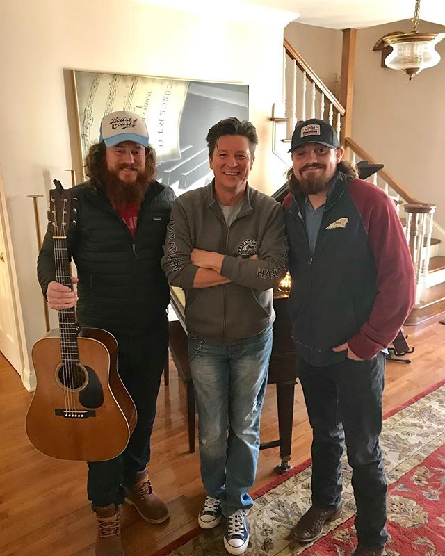 When you get to write a great song with one of your heroes. Thanks again to Ronnie Bowman! Me & @whatforestsees had a blast! 🎶 • • • • #AndyBuckner #RonnieBowman #NeverWantedNothingMore #NobodyToBlame #ItsGettingBetterAllTheTime #NorthCarolina #Nashville #CountryMusic