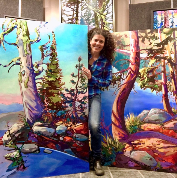 Stephanie in her Rossland gallery