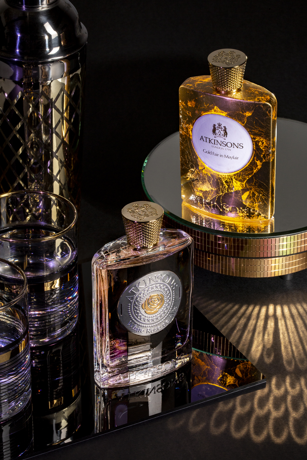 Atkinsons White Rose de Alix, Atkinsons Gold Fair in Mayfair