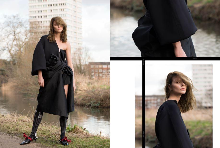 coats (worn as dress)  LANVIN  shoes & socks  PRADA