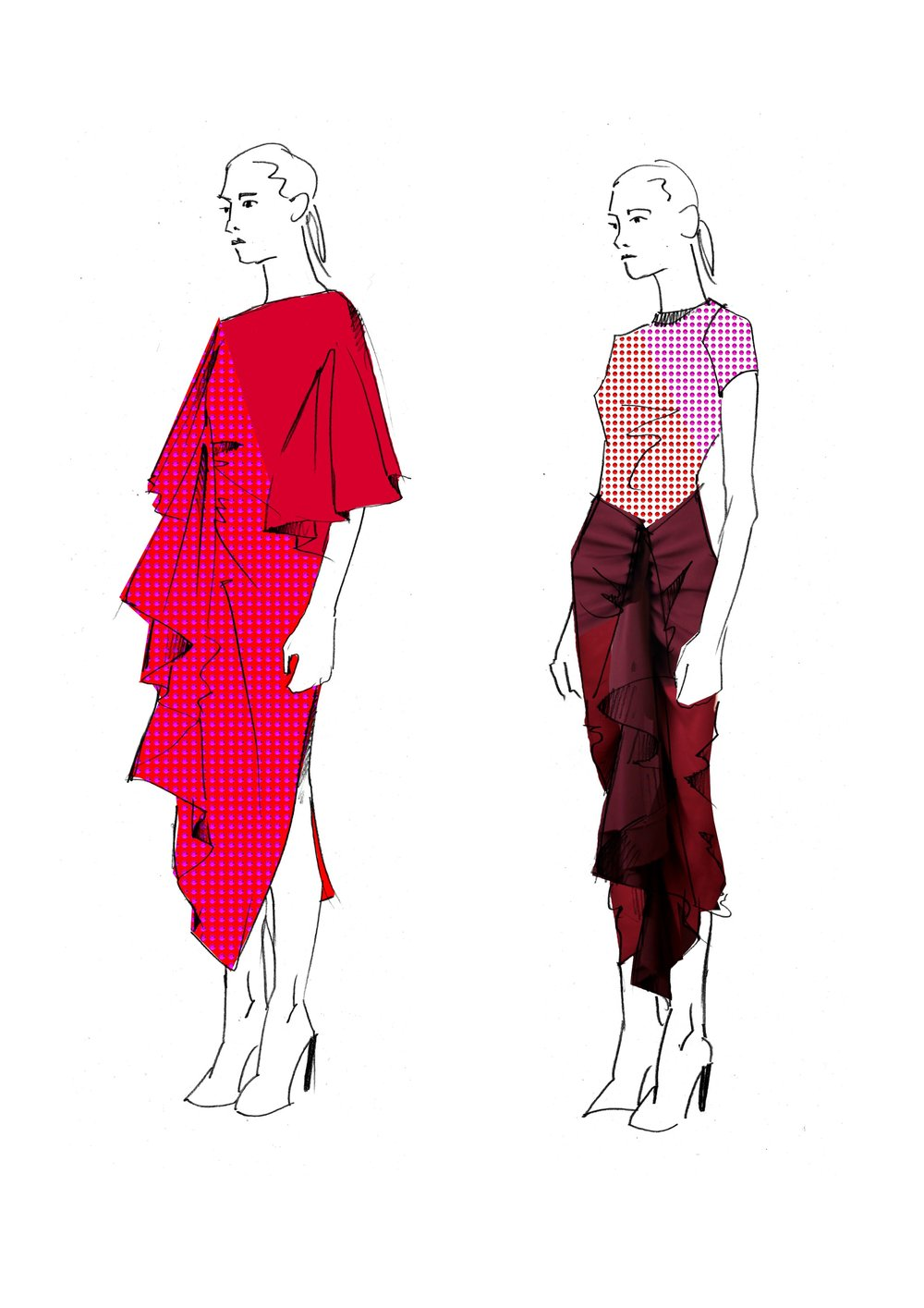 Exclusive sketches from the Paula Knorr Fall/Winter 2019 collection.
