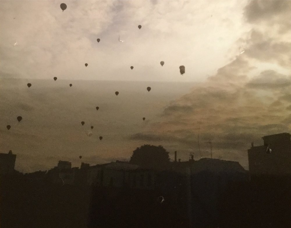 Our balloons in the sky.