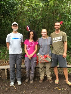 Members of team University of Hawai'i! Left to Right: Tom Ranker, Tamara Ticktin, Ashley McGuigan, Andre Boraks