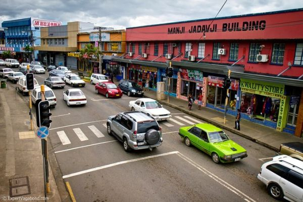 Main road in Nadi town, Fiji. Photo courtesy of FijiOne.