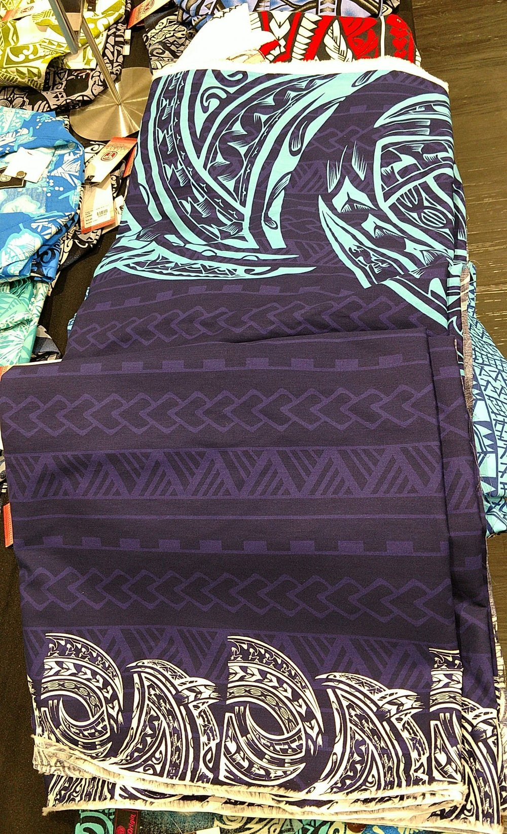 Our Kalavata fabric for bula shirt and jaba. hard to image the outfit it will make but I will post pictures of the finished project.