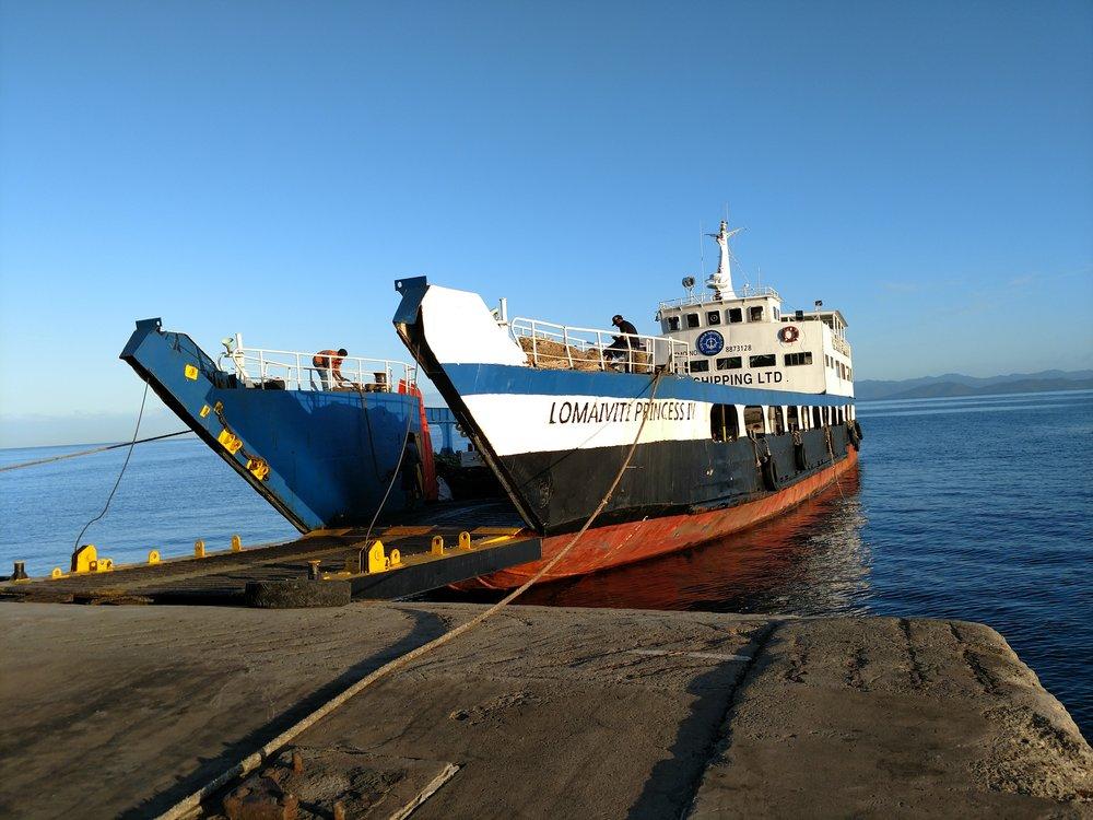 Ferry Boat from Taveuni across to Vanua Levu. The Lomaiviti Princess IV