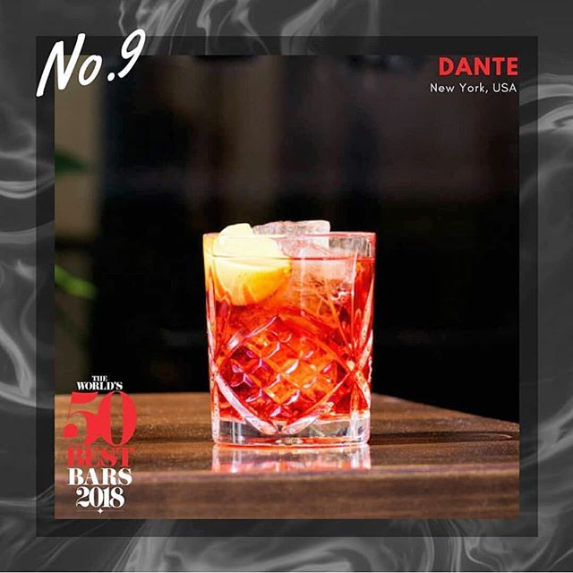 #9 👌 Congratulations to our sister bar @dantenewyorkcity for this incredible honor! 🎊 . . 📷: @50bestbars #dantelovesyou #worlds50bestbars #50bestbars #cocktails #cocktailbar #bar #bartender #awards #littleitaly #nyc #newyorkcity #thirsty #draaaaanks #fwx