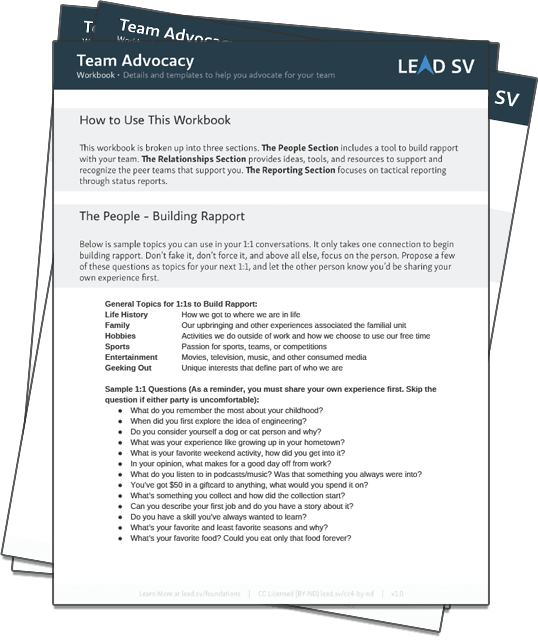 Get the Team Advocacy Workbook