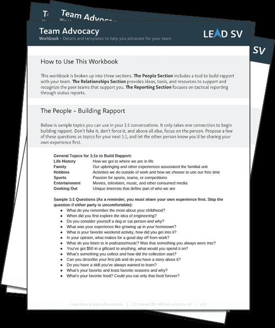 Get the Team Advocacy Workbook