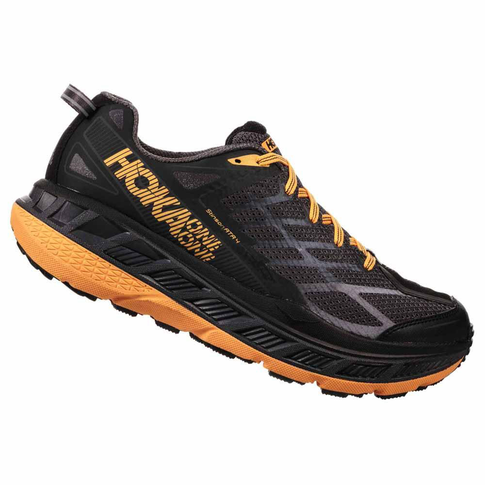 Hoka One One Stinson ATR 4 - Black/Kumquat - (PC: Hemsedal-sport.no.com)
