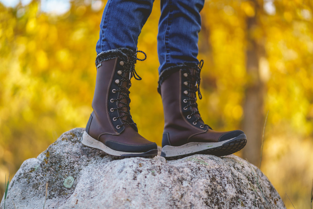 Chaco Borealis Tall - Too cold for your beloved Chaco sandals? Get the same podiatrist-approved support with Colorado flare that will keep you warm and dry all season!Uses: Lifestyle, Travel, SnowModel/PhotogRAPHY: Mel Ponwith/Cole Davis