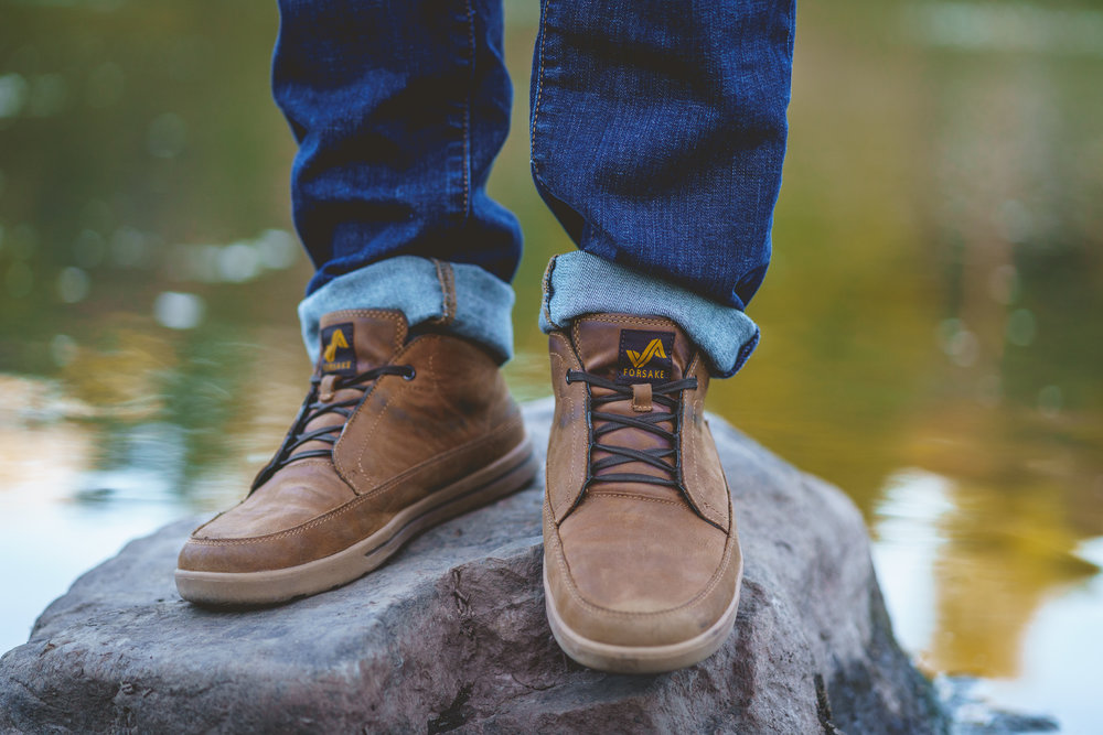 Forsake Phil Chukka - In spite of the elements, hit downtown with confidence and style in this fully functional and extremely durable leather sneaker.Uses: Light Hiking, Lifestyle, TravelModel/PhotogRAPHY: Brian Josefsberg/Cole Davis